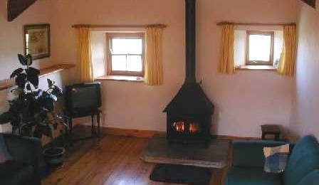 Wood burning stove at the cottage